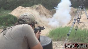 """""""The AK Guy"""" detonates an explosive with AK fire."""