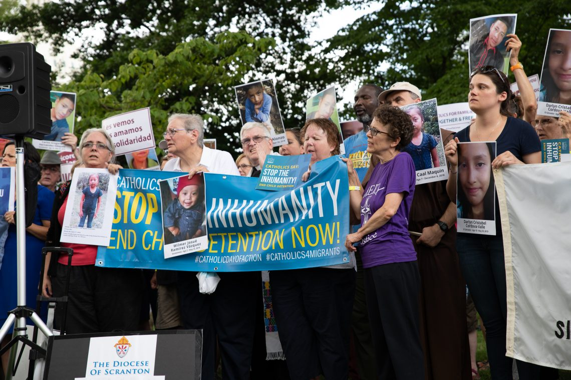 Catholic clergy arrested on Capitol Hill protesting 'inhumane' border facilities